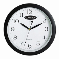 Jastek Wall Clock 300mm Black