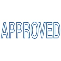 Deskmate Self Inking Stamp Approved Blue A02A