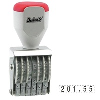 Deskmate Rubber Number Stamp 6 Band 4mm