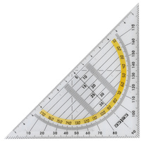 Celco 2 In 1 Set Squares 140mm 45 Degree & Protractor