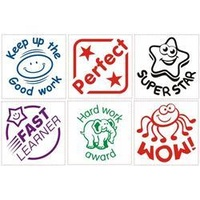 Deskmate Merit Stamp Encouragement 3Pk Asst Titles