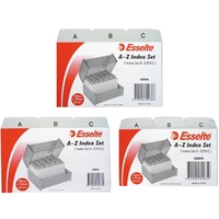 Esselte Indices PVC A-Z 127X76mm Grey