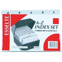 Esselte Indices PVC A Z 203X127mm Grey