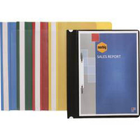 Marbig Standard PP Flat Files A4 Clear Front Assorted