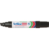 Artline 100 Permanent Markers Large Chisel Black
