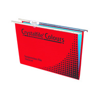 Crystalfile Colours Suspension Files Enviro Foolscap Complete Red
