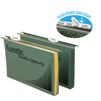 Crystalfile Suspension Files Foolscap Enviro Double Capacity Complete Pk10