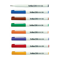 Artline 210 Fineliner Pen 0.6mm 8 Colours Assorted Bx12