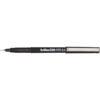 Artline 220 Fineliner Pen 0.2mm Black