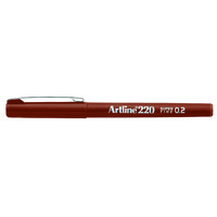 Artline 220 Fineliner Pen 0.2mm Brown