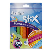 Artline Stix Colouring Marker Bullet 2.0mm Assorted Colours Pk10