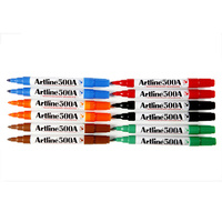 Artline 500A Whiteboard Marker Medium Bullet 6 Colours Assorted