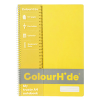 Colourhide Notebooks A4 Notebook 120 Page Yellow