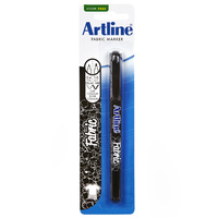 Artline 7541 Fabric Marker Bullet Black