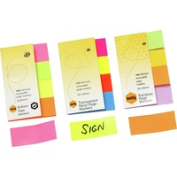 Marbig Rainbow Page Markers 20X50mm 160 Sheet Assorted