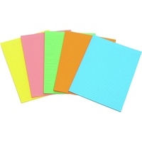 Marbig Writing Pad Fluro A4 Assorted 40 Leaf