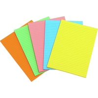 Marbig Writing Pad Fluro A5 Assorted 40 Leaf