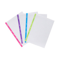 Marbig Colourhide A4 Coloured Edge Refill Paper 400 Sheets