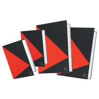 Marbig Red & Black Notebook A5 With Index 200Pg