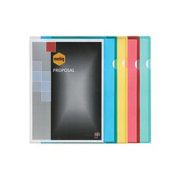 Marbig Letter File A4 Poly Clear 100Bx