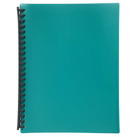 Marbig Refillable Display Book A4 20 Pocket Light Green