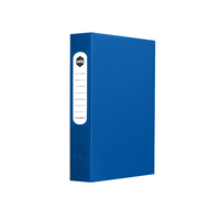 Marbig Box Files With Button PP A4 60mm Blue