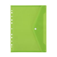 Marbig Binder Pocket With Side Button Closure Lime