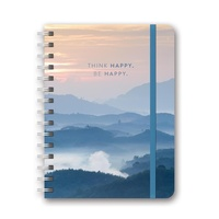Orange Circle Deluxe Compact Flexi Planner Be Happy