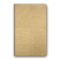 Orange Circle Leatheresque Mini Monthly Planner Gold Shimmer 2020 Edition