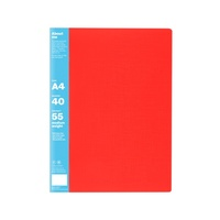 Colourhide Display Book A4 40 Pocket Red