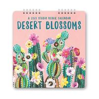 Orange Circle Studio Calendar Desert Blooms 2021 Edition