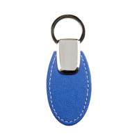 Rexel Key Ring Oval PU Finish Blue
