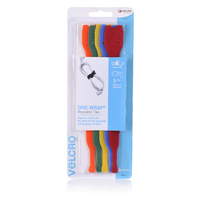 Velcro One-Wrap Reusable Ties 5 X 200mm Coloured