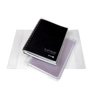 Contact Book Covering Sleeves Clear A4 6Pk