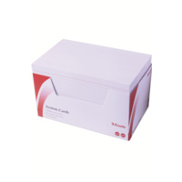 Esselte Ruled System Cards - 203X127mm 8X5 White Pk100