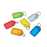 Kevron ID5 Key Tags - 50 Tags X Assorted Colours Bag of 50