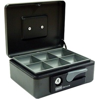 Esselte Deluxe Cash Box No 8 197X154X80mm Graphite