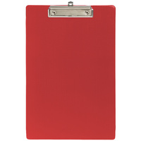 Marbig PVC Clipfolders A4 Red