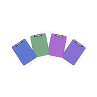 Marbig Plastic Transparent Clipboard A4 Assorted