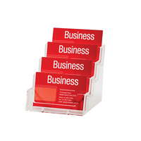 Esselte Business Card Holder Free Standing Landscape 4 Tier