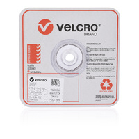 Velcro Stick On Hook Only Tape 25mm X 25M White