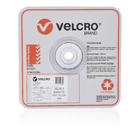 Velcro Stick On Loop Only Tape 25mm X 25M White