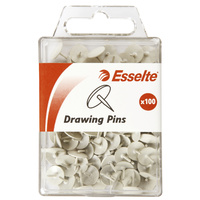 Esselte Coloured Drawing Pins White