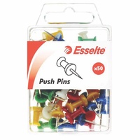 Esselte Pins Push 8X20mm Assorted