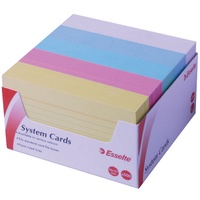 "Esselte Ruled System Cards 127X76mm 5""X3"" Assort Pk500"