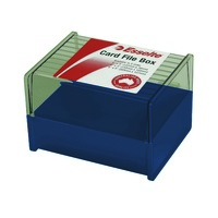 Sws Card File Box - 76X127mm 3X5 Dir Blue