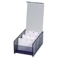 Esselte Avante Business Card Box Acrylic Smoke