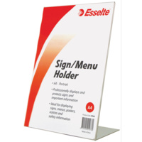 Esselte Sign Menu Holder A4 Slanted Portrait