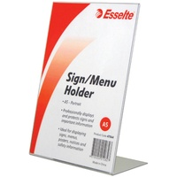 Esselte Sign Menu Holder A5 Slanted Portrait