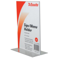 Esselte Sign Menu Holder A5 Double Sided Portrait